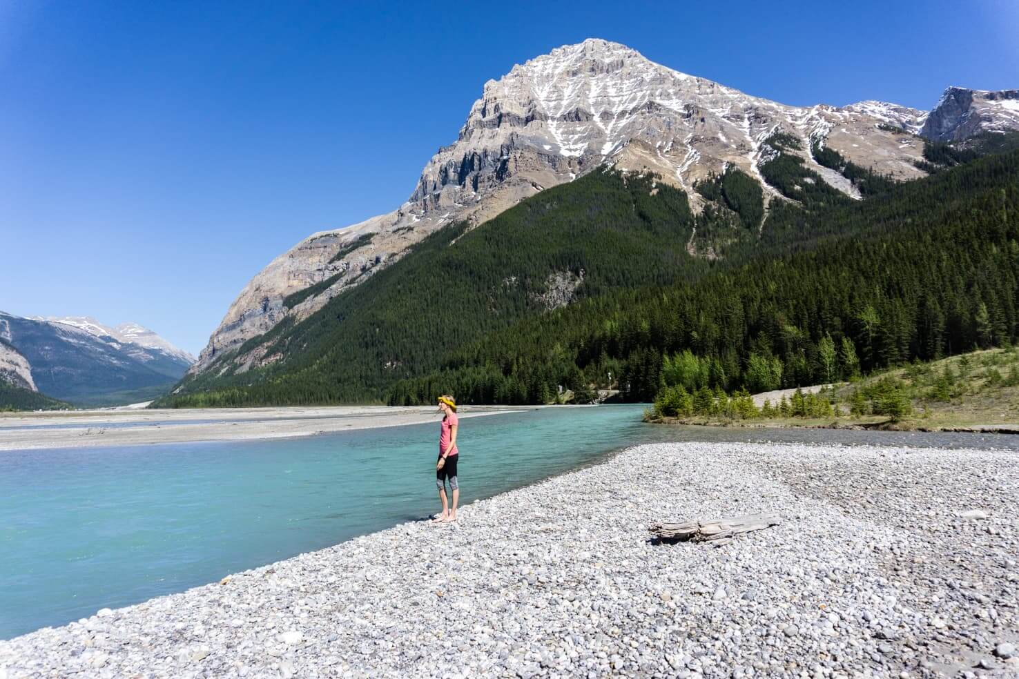 Adventure travel guide to Yoho National Park - walking along the river in Field