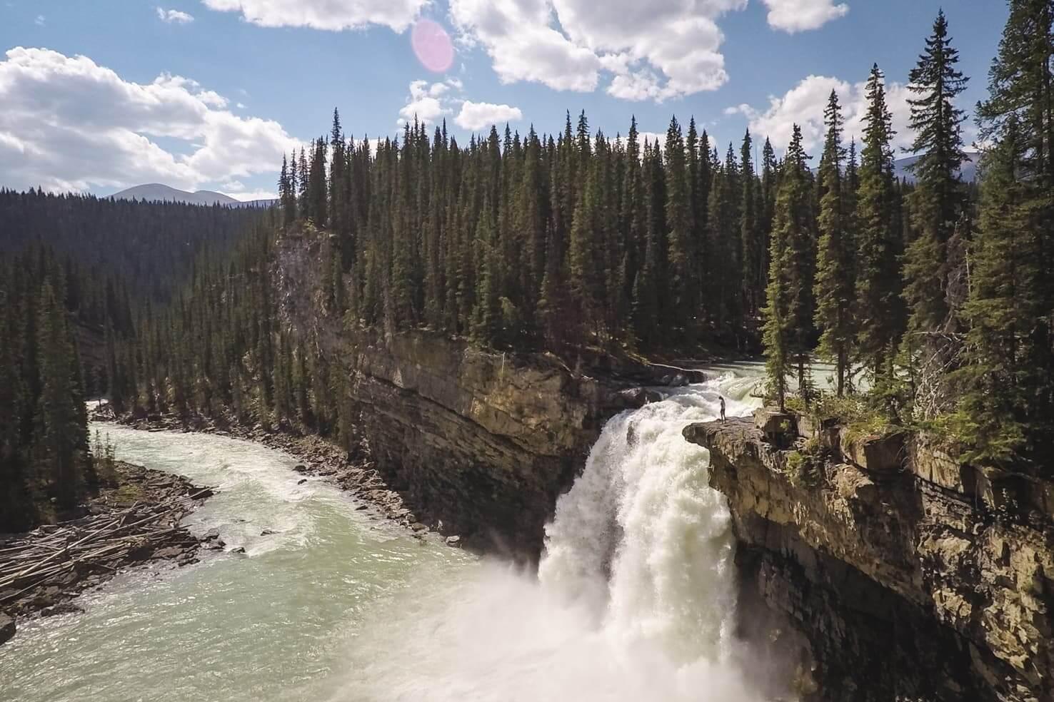 Snake Indian Falls in Jasper National Park