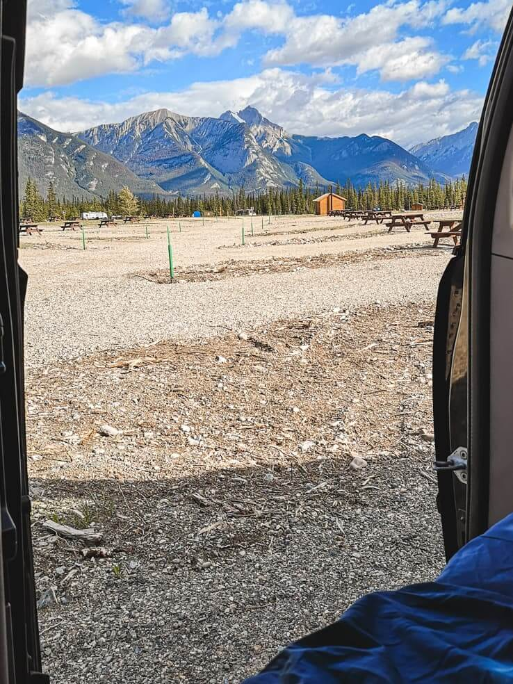 Camping in Jasper National Park - Snaring River Overflow