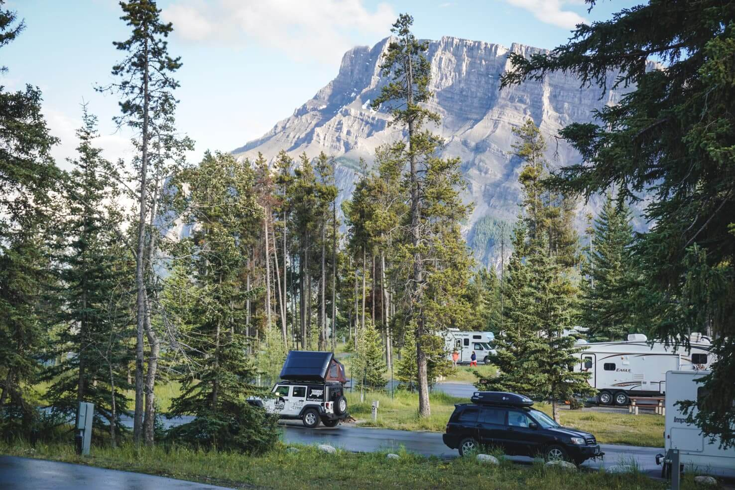 Camping in Banff National Park - Tunnel Mountain Campground-3