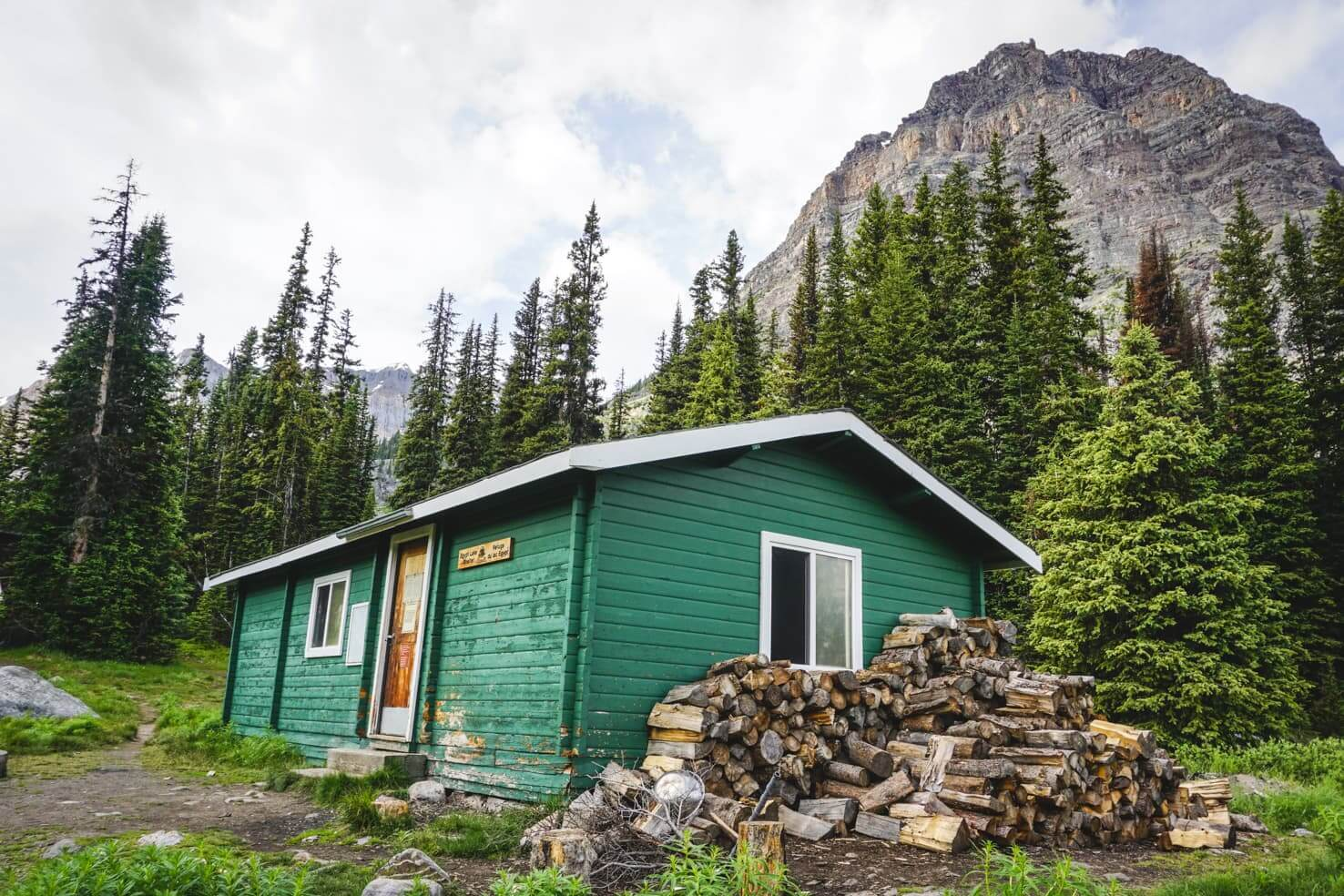 Camping in Banff National Park - backcountry shelter