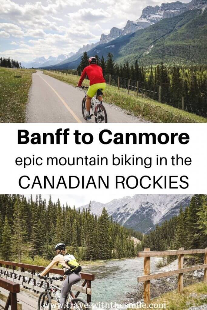 Legacy Trail, from Banff to Canmore, is an epic biking trip when you join the mountain biking trail back to Banff as well.   Banff National Park   Canadian Rockies   Canada   Day trip in Banff   Things to do in Banff   Biking in Banff   #canadianrockies #banffnationalpark #banff #hiking #mountainbiking #outdoors #adventure #canmore #bucketlist