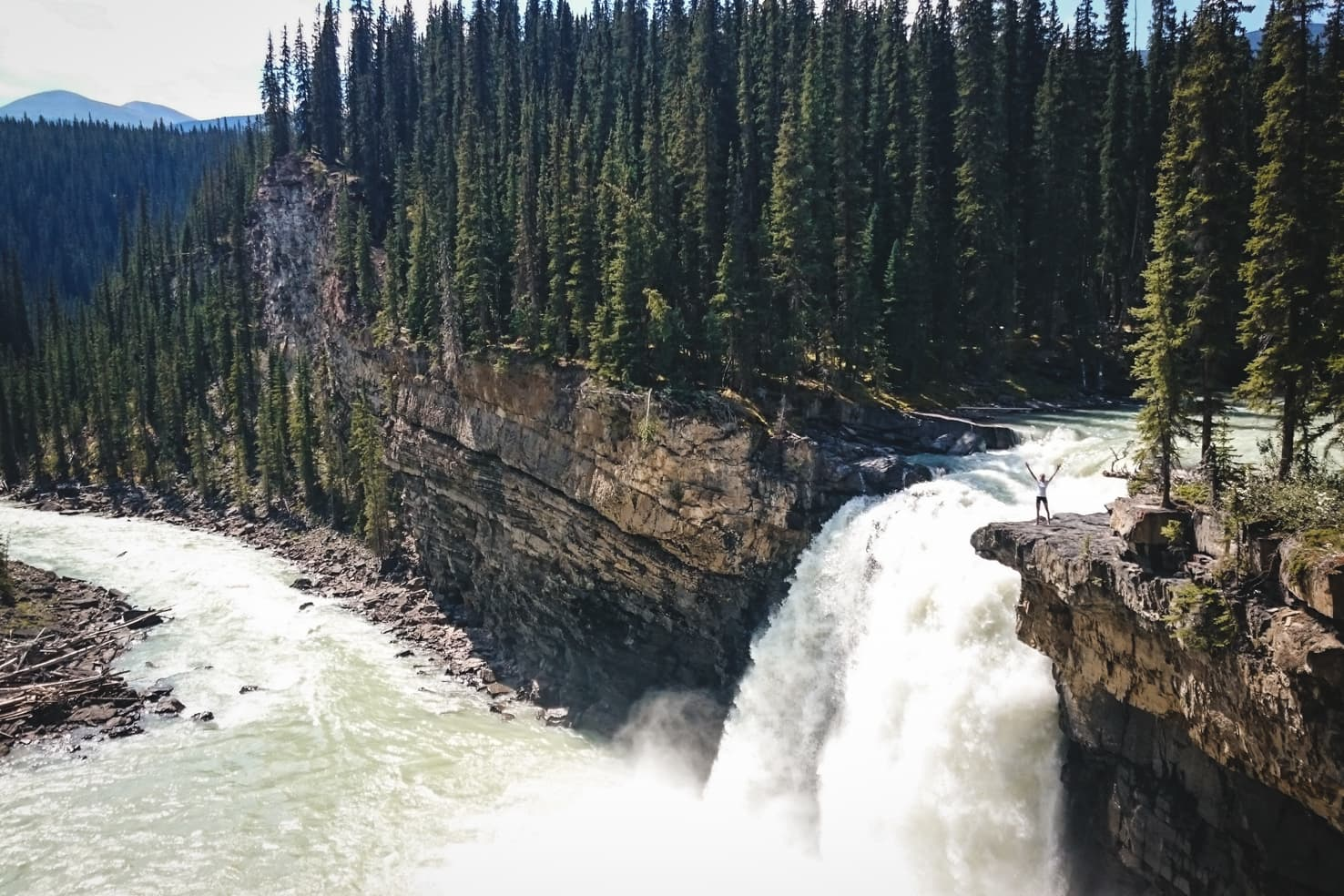 Things to do in Jasper National Park - 24 Mountain bike to the remote Snake Indian Falls