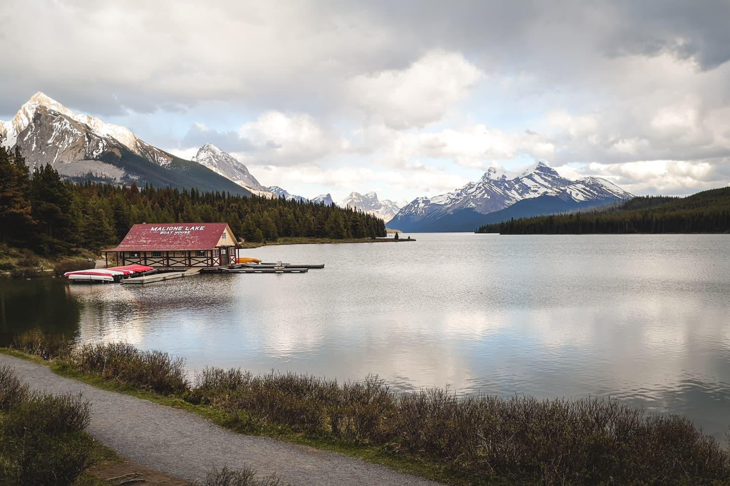 Things to do in Jasper National Park - 25 Canoe around Maligne Lake