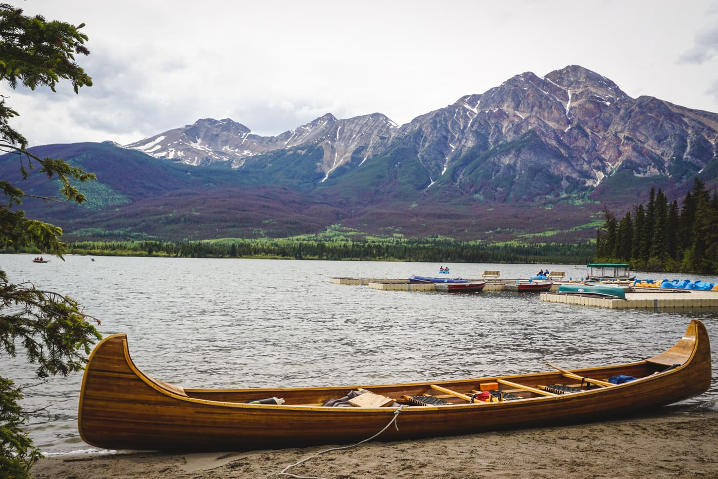 Things to do in Jasper National Park - 55 Paddle in a canoe on Pyramid Lake