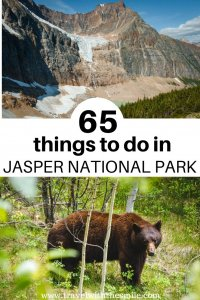 Things to do in Jasper |Plan your dream trip to the largest national park in the Canadian Rockies with our ultimate bucket list of things to do in Jasper National Park. | Jasper National Park | Canadian Rockies | Things to do in Jasper | Hiking in Jasper | Winter in Jasper | Activities in Jasper | #canadianrockies #jaspernationalpark #outdoors #adventure #bucketlist #hiking #wildlife #jasper #adventuretravel