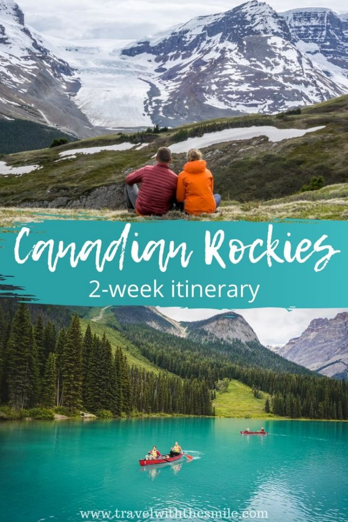 Canadian Rockies road trip itinerary. Explore 2 national parks and lesser known gems in 2 weeks. | Banff National Park | Jasper National Park | Yoho National Park | Kootenay National Park | Waterton Lakes National Park | Canadian Rockies | Things to do in Canada | Hiking in Canadian Rockies | #canadianrockies #jaspernationalpark #banffnationalpark #yohonationalpark #outdoors #adventure #bucketlist #hiking #wildlife #roadtrip #itinerary