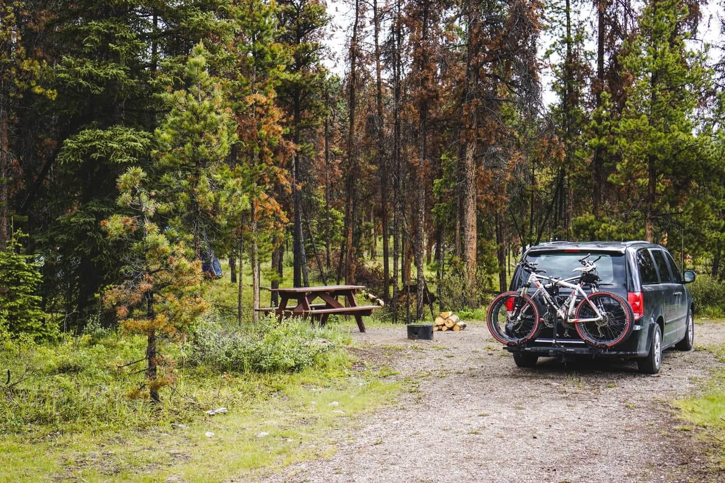 Canadian Rockies road trip itinerary - Camping in Jasper National Park