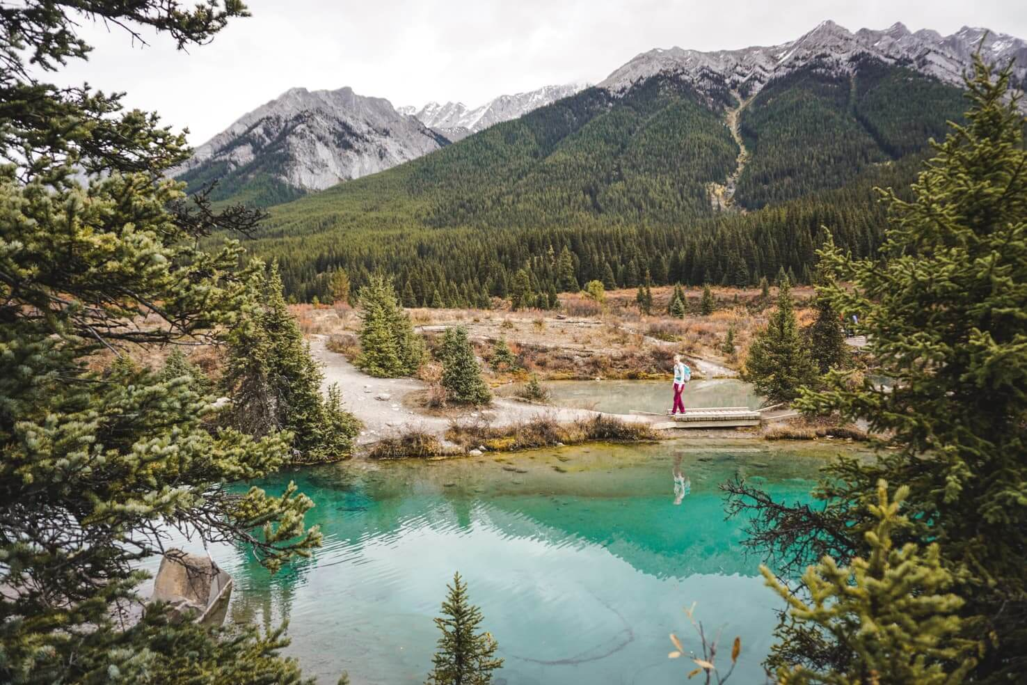 Canadian Rockies road trip itinerary - Ink Pots at Johnston Canyon, Banff National Park