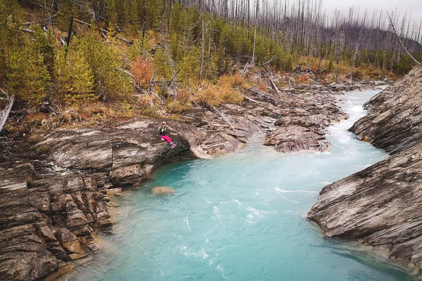 Canadian Rockies road trip itinerary - Kootenay River in Kootenay National Park