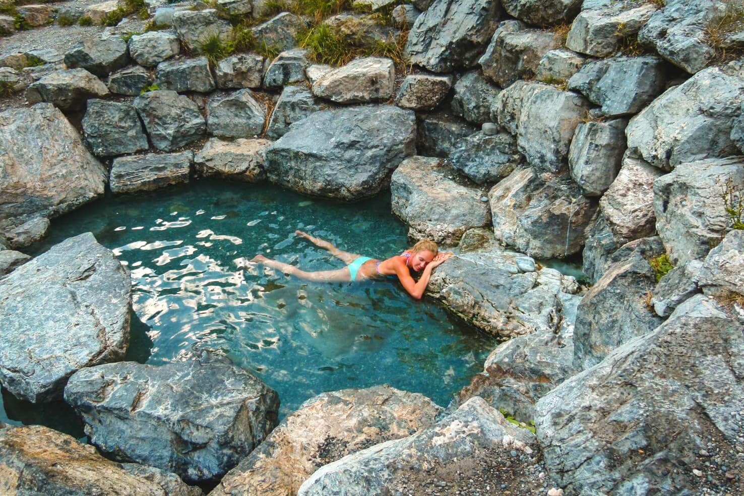 Canadian Rockies road trip itinerary - Lussier Hot Springs in Whiteswan Provincial Park