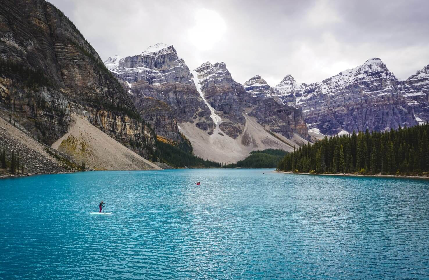 Canadian Rockies road trip itinerary - Moraine Lake, Banff National Park