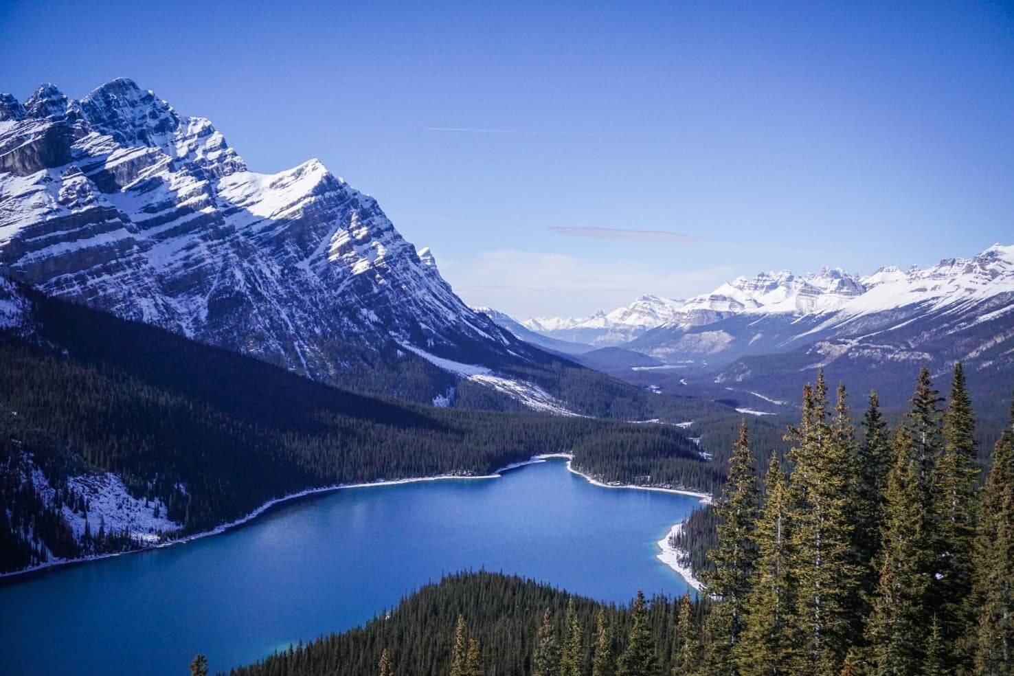 Canadian Rockies road trip itinerary - Peyto Lake in Banff National Park