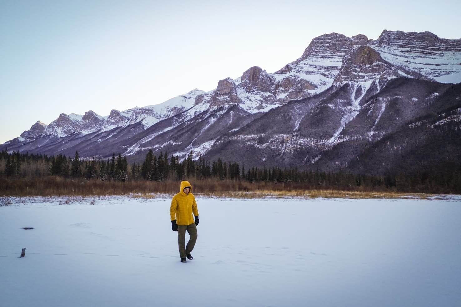 Ice skating in Banff National Park - Carrot Creek