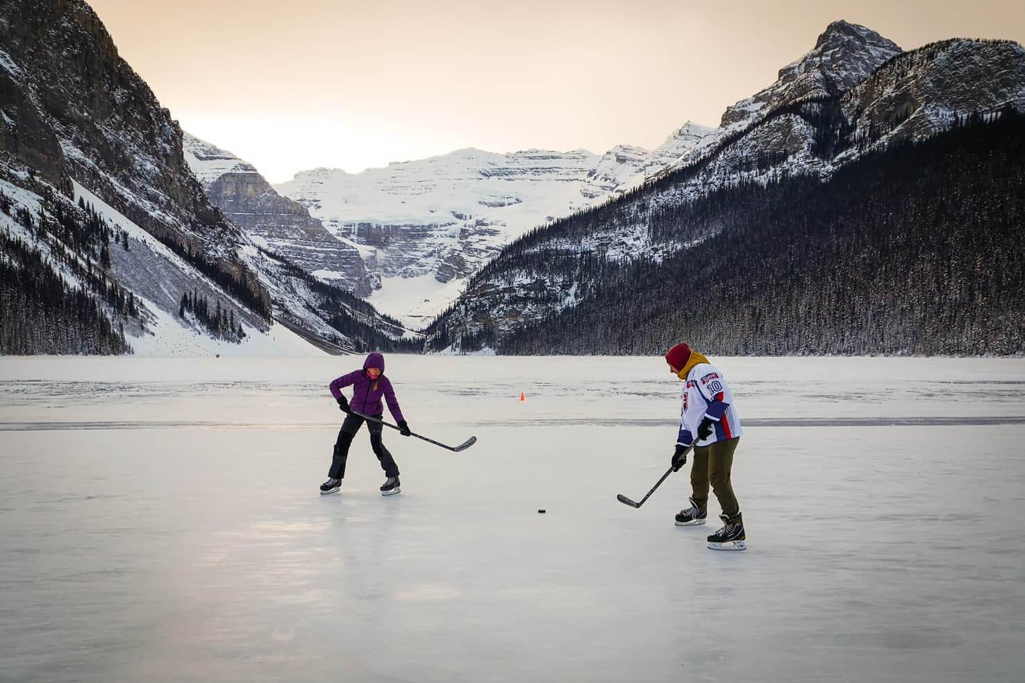Ice skating in Banff National Park - Lake Louise
