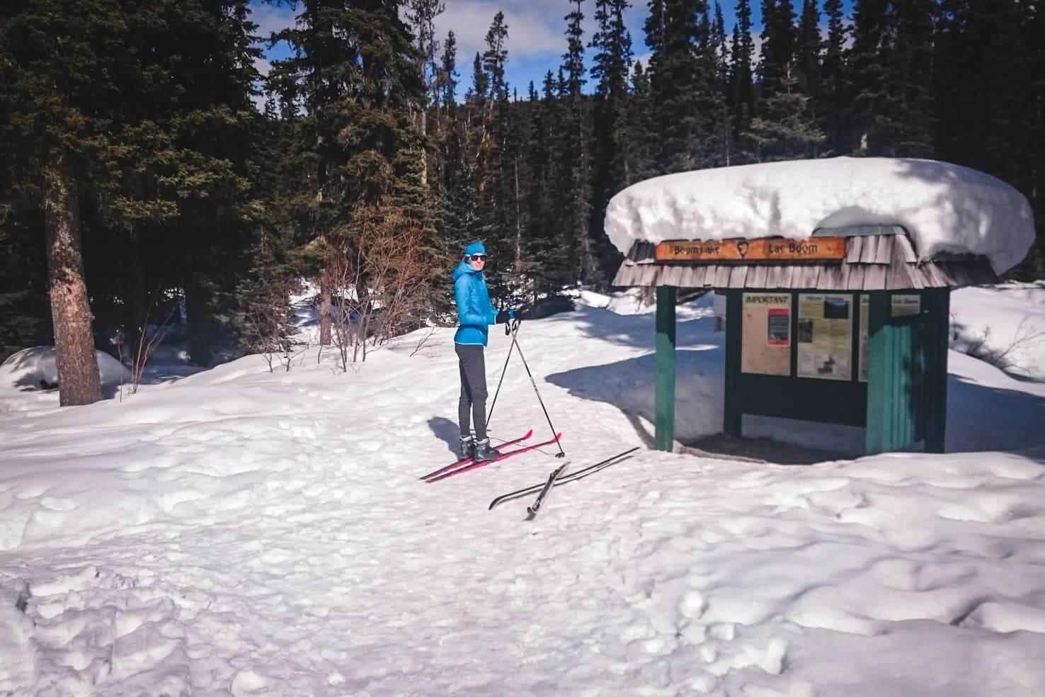 Boom Lake, Banff National Park in winter