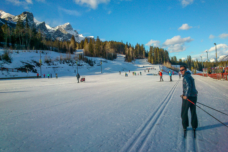 Cross country ski trails in Canmore