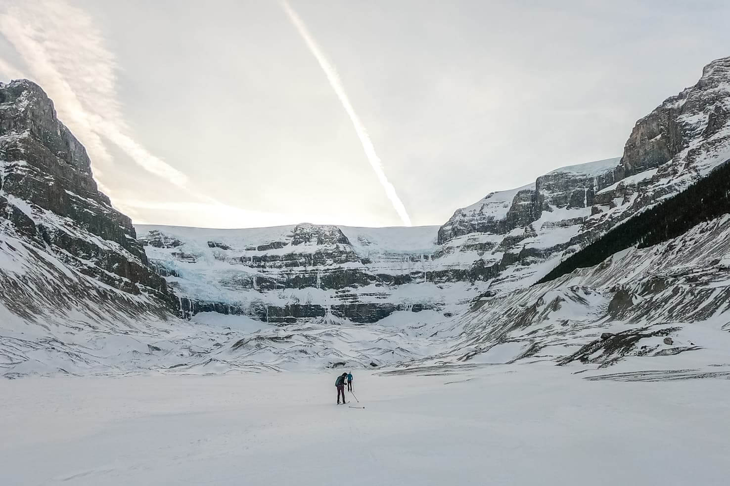 Cross country ski trails in Jasper National Park - Stutfield Glacier