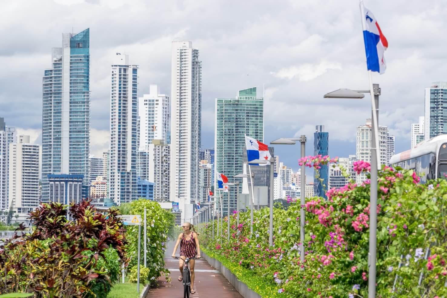 biking in Panama City, Panama