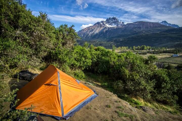 camping in Cerro Castillo, Carretera Austral, Chile