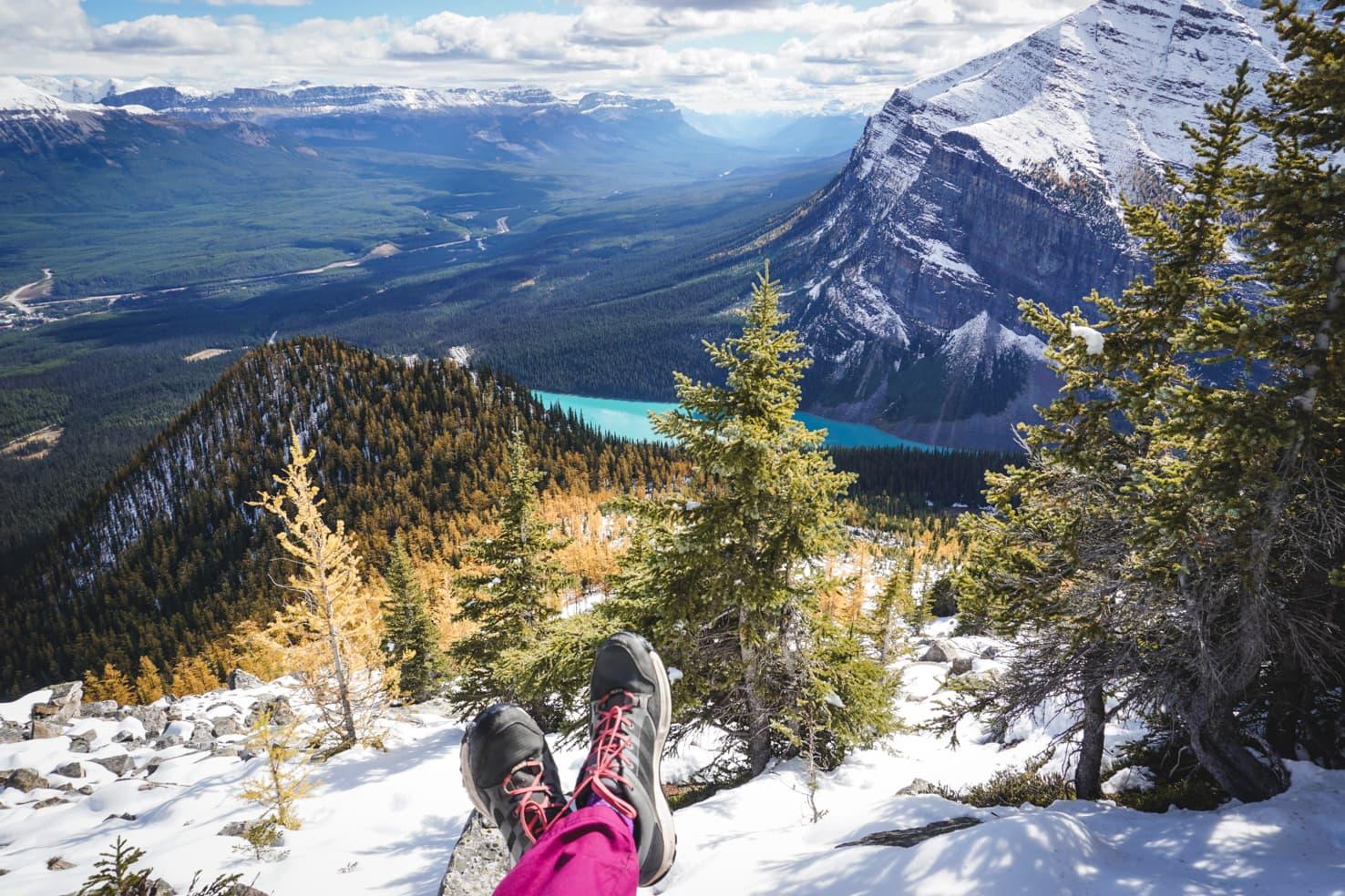 Banff Packing List - Mt. Saint Piran Hike above Lake Louise, Banff National Park