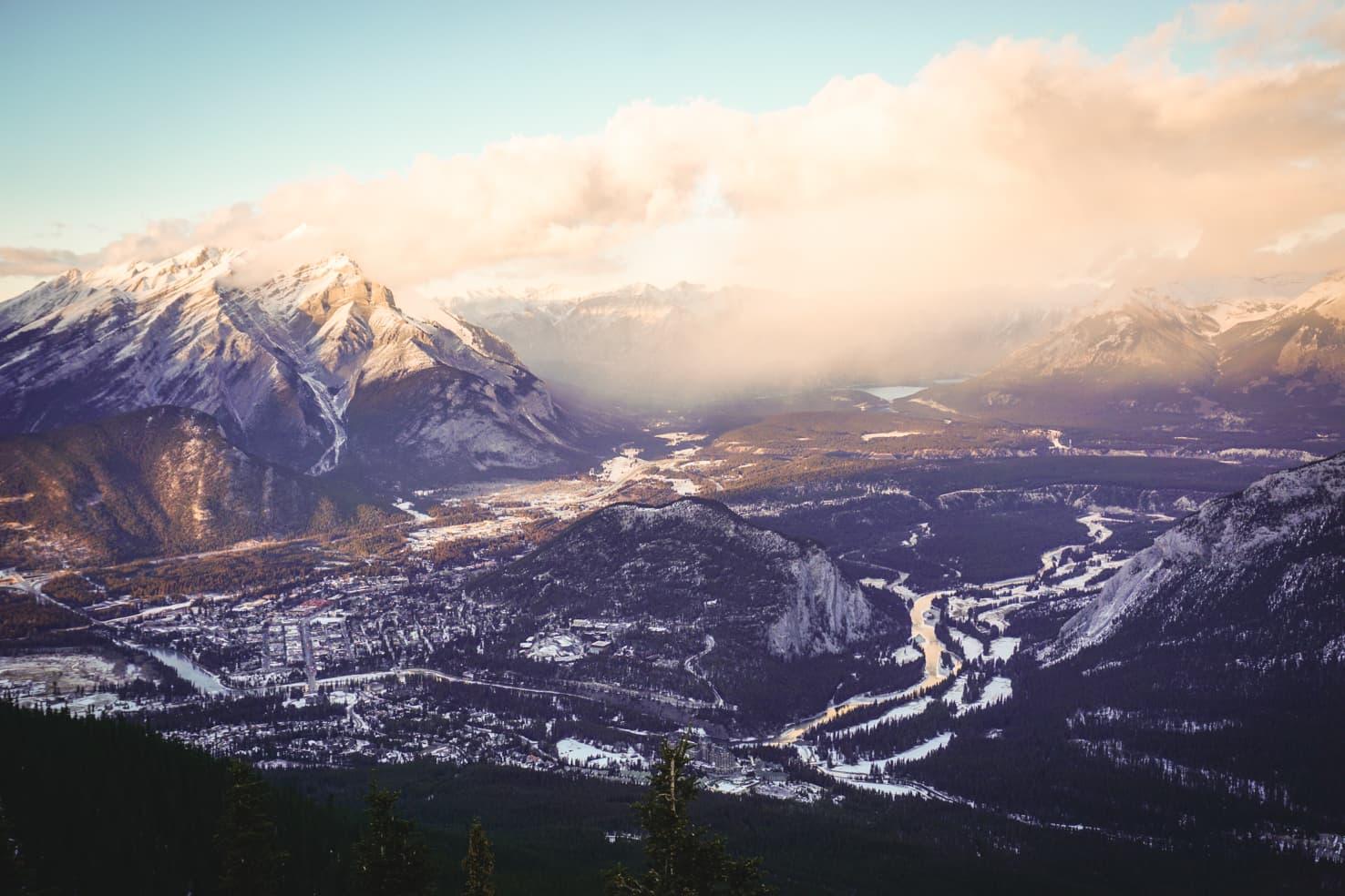 Banff Packing List - Banff in winter from Sulphur Mountain