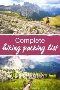 The Complete Hiking Packing List for Your Next Mountain Adventure PIN (1)