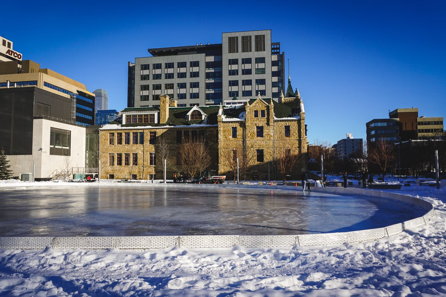 Outdoor Ice Skating in Calgary - Barb Scott Park (1)