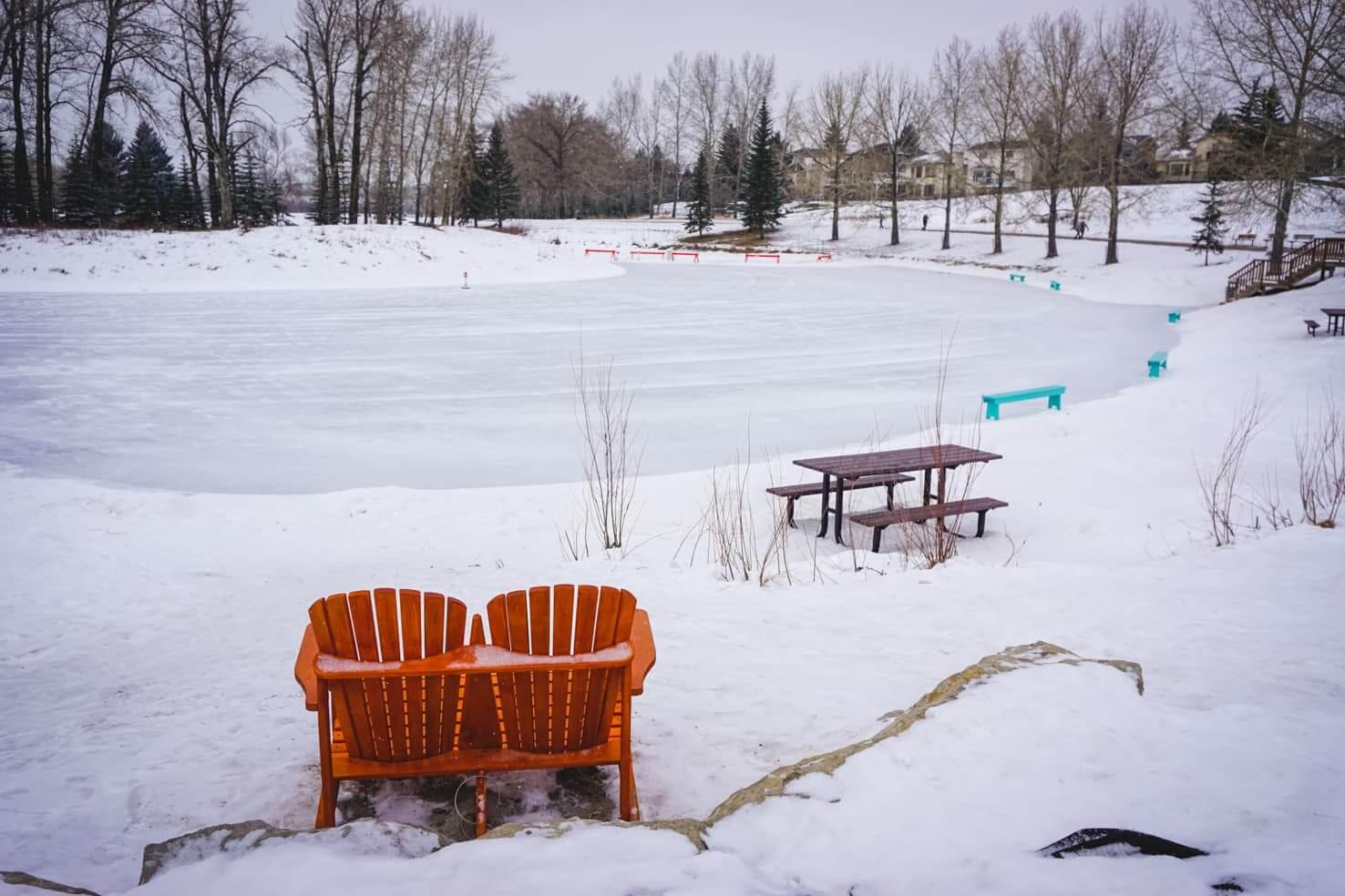 Outdoor Ice Skating in Calgary - Carburn Park