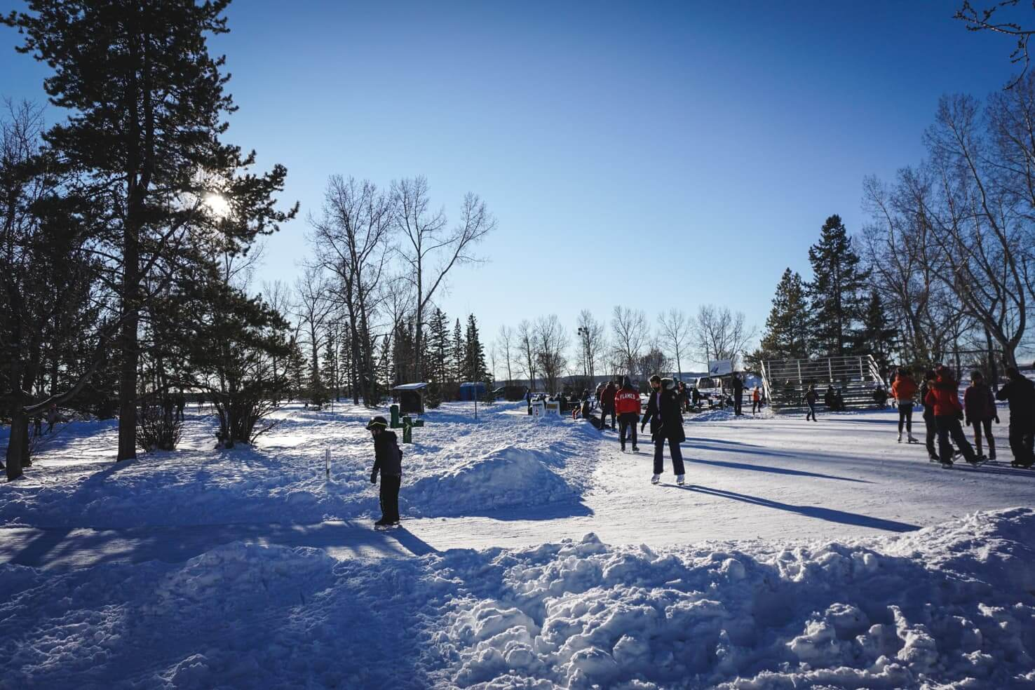 Outdoor Ice Skating in Calgary - North Glenmore Park (1)