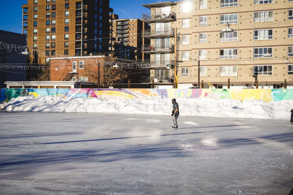 Outdoor Ice Skating in Calgary - Thomson Family Park (1)
