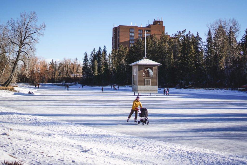 Skating at Bowness Park
