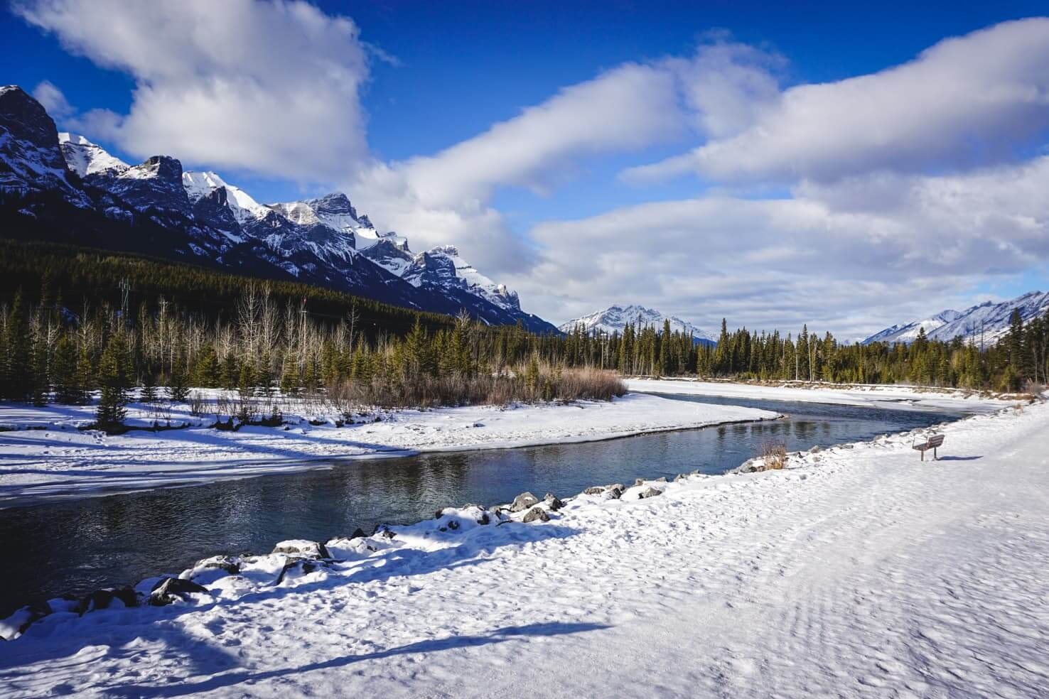 Bow River Trail in Canmore
