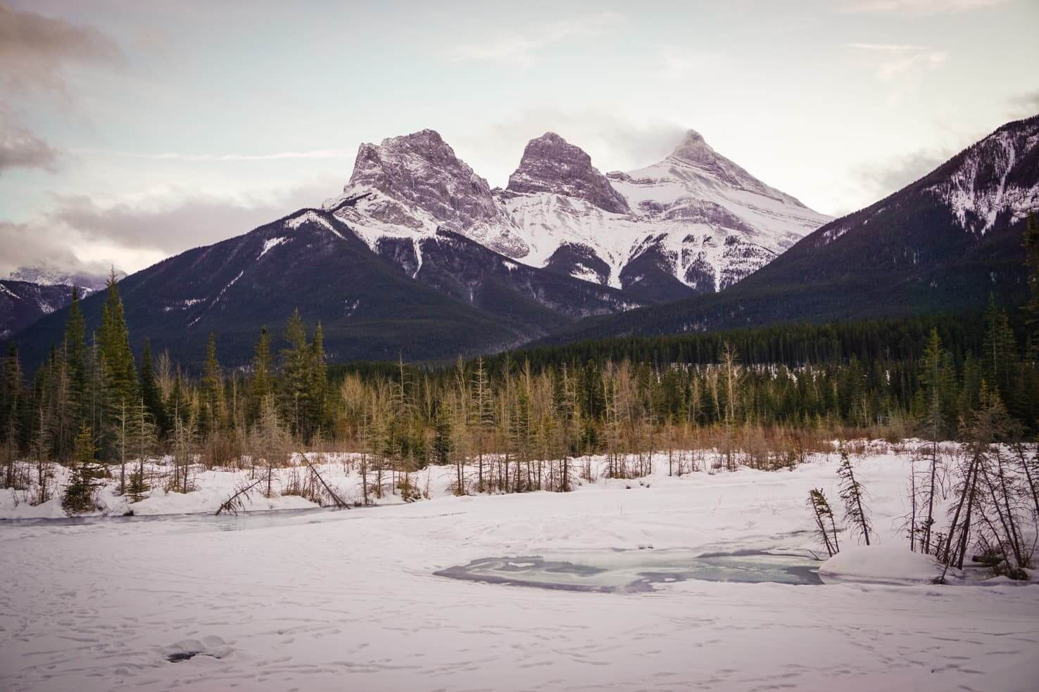 Canmore in winter