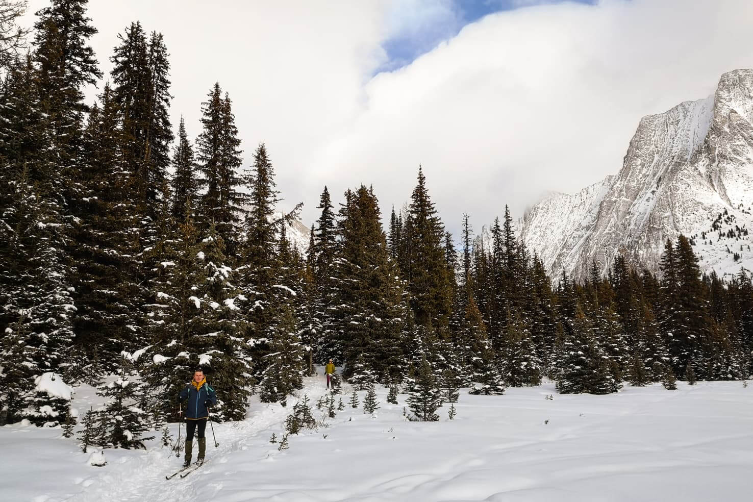 Winter Hikes in Canmore - Chester Lake in winter