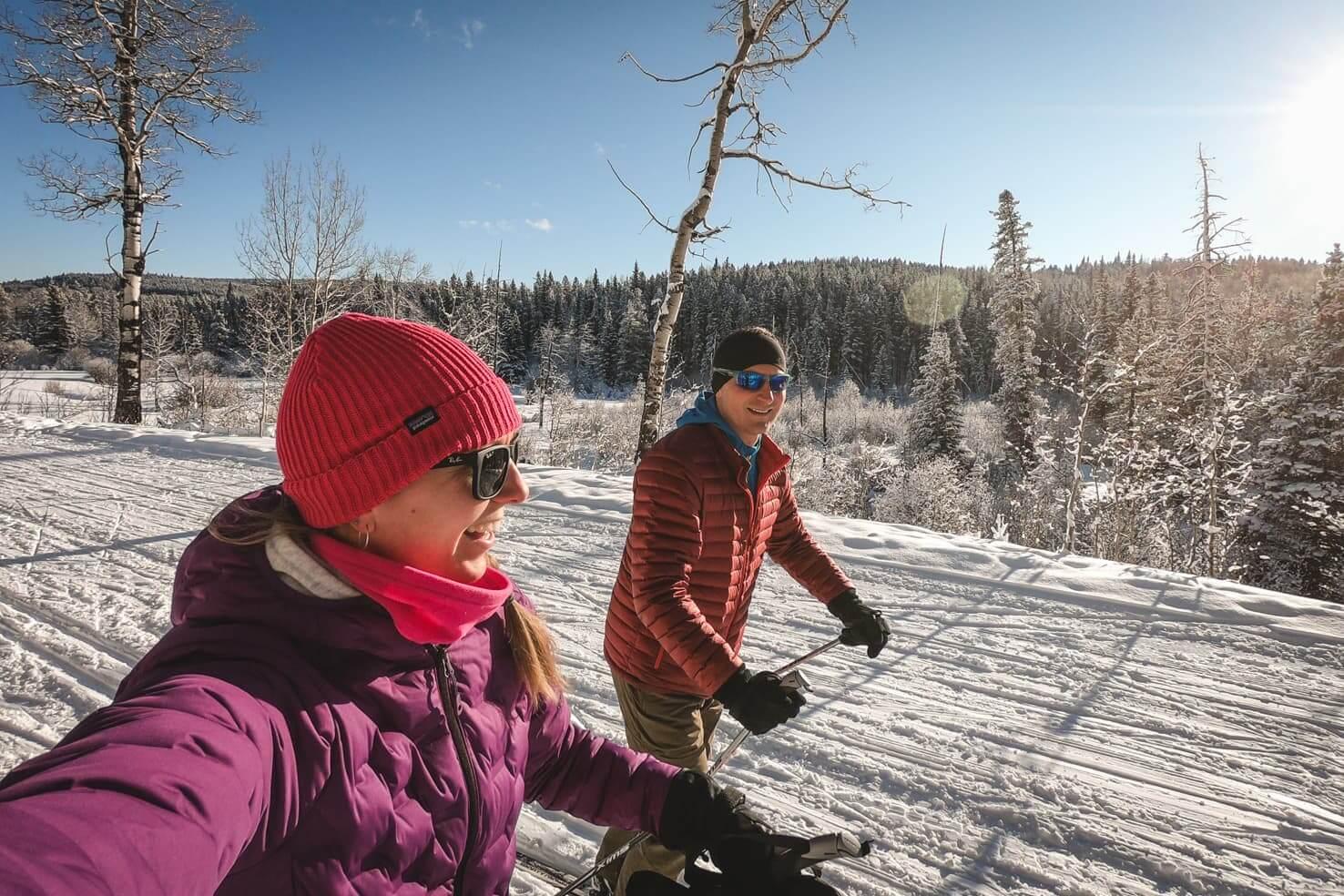 Cross country skiing in Bragg Creek