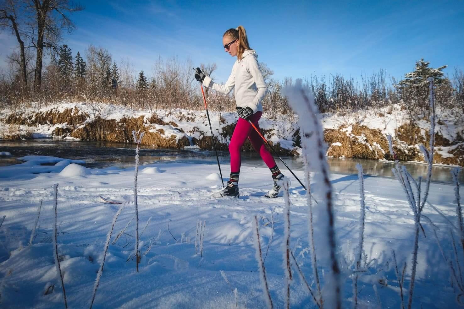 Cross country skiing in Calgary - Fish Creek Provincial Park