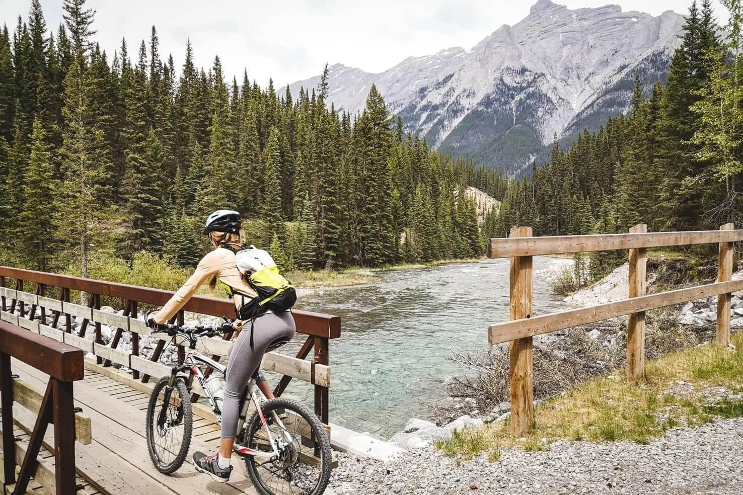 biking Goat Creek, Canmore